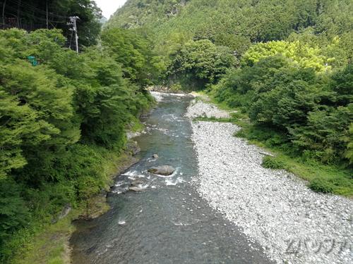 海沢大橋(うなざわおおはし)からの景色