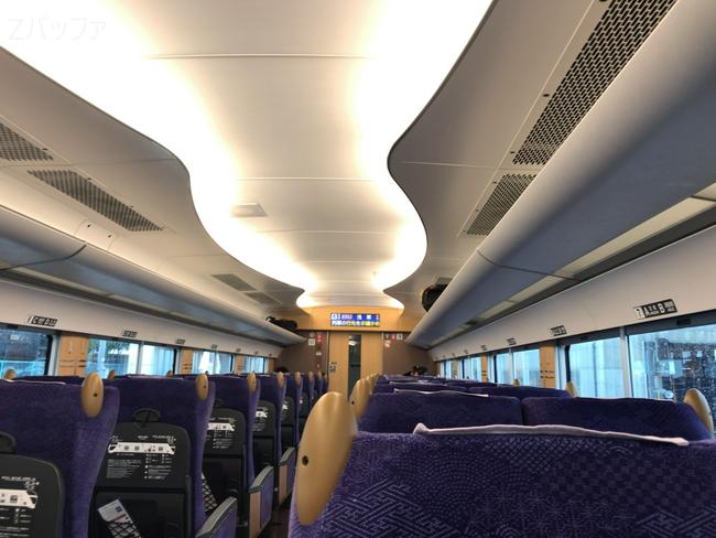 特急リバティ会津の車内と座席