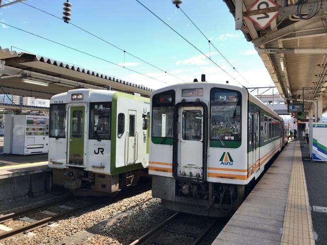 会津若松駅JR只見線ホーム