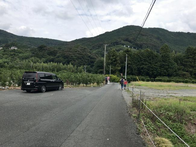 竜ヶ岩洞入口バス停からの道