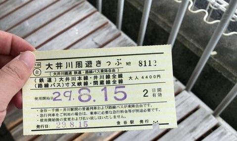 大井川鉄道のフリー乗車券