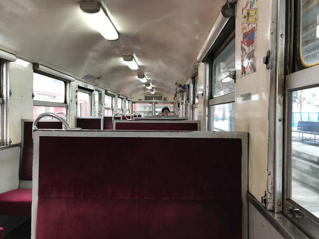 井川線の車内模様