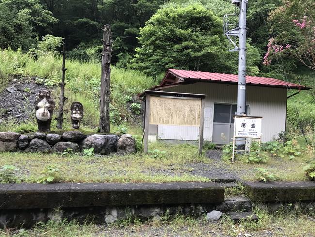 尾盛駅と保線小屋