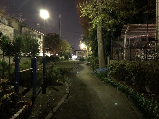 iPhone Xのカメラで撮影した夜景