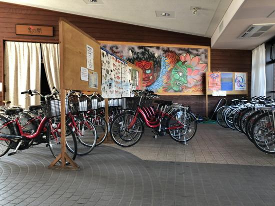 女木島のレンタルサイクル
