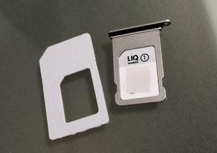 マルチSIMカードをnanoSIMサイズにしてiPhoneにセット