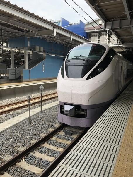 特急「ひたち」の車両(品川駅にて)