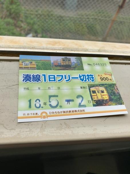 ひたちなか海浜鉄道の1日フリー乗車切符