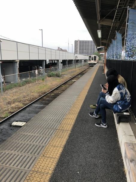 阿字ヶ浦行き列車が来ました