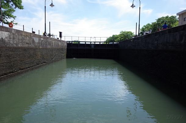 中島閘門で水上エレベータを体験