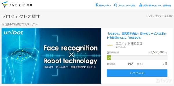 ユニボット株式会社へ投資