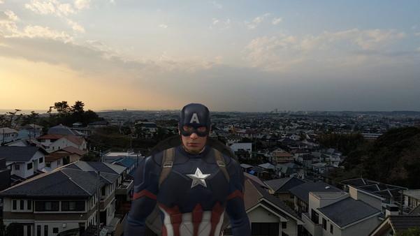 Pixel 3のカメラでPlayground利用してアベンジャーズのキャプテン・アメリカを降臨