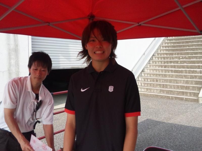 浦和レッズレディースでの最後のホームゲームを終えた熊谷選手