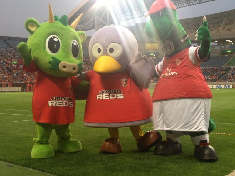 さいたまシティカップ2013でスタジアム内にマスコット3体そろい踏み!