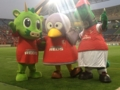 [浦和レッズ][埼玉スタジアム2002][マスコット]さいたまシティカップ2013でスタジアム内にマスコット3体そろい踏み!