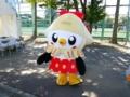 [マスコット][ゆるキャラ][浦和駒場スタジアム]八戸市のマスコット、「こうみちゃん」が駒場スタジアムにいました