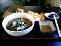 [蕎麦][昼食]今日のお昼ご飯!山菜蕎麦と、舞茸、かき揚げの天ぷらの組み合わせで