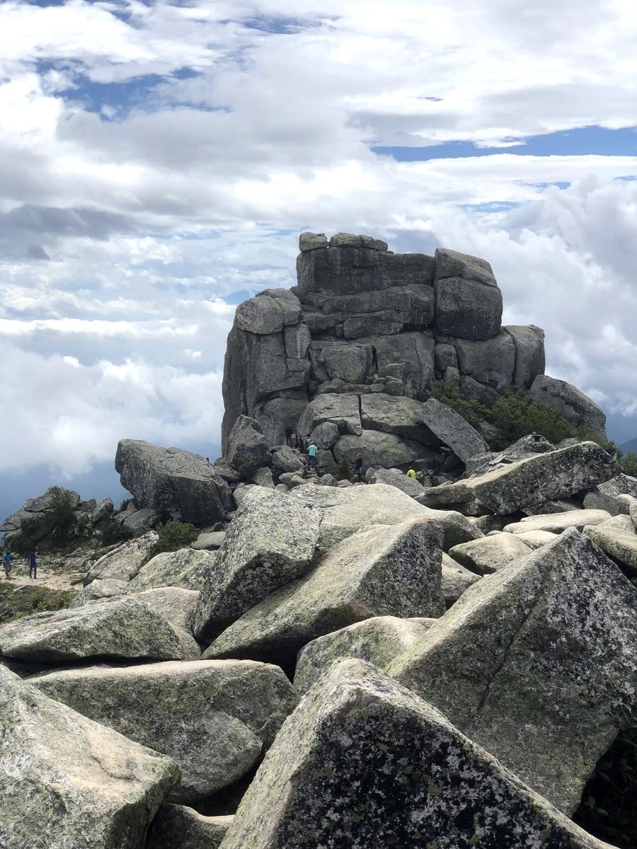 金峰山 登山 五丈岩
