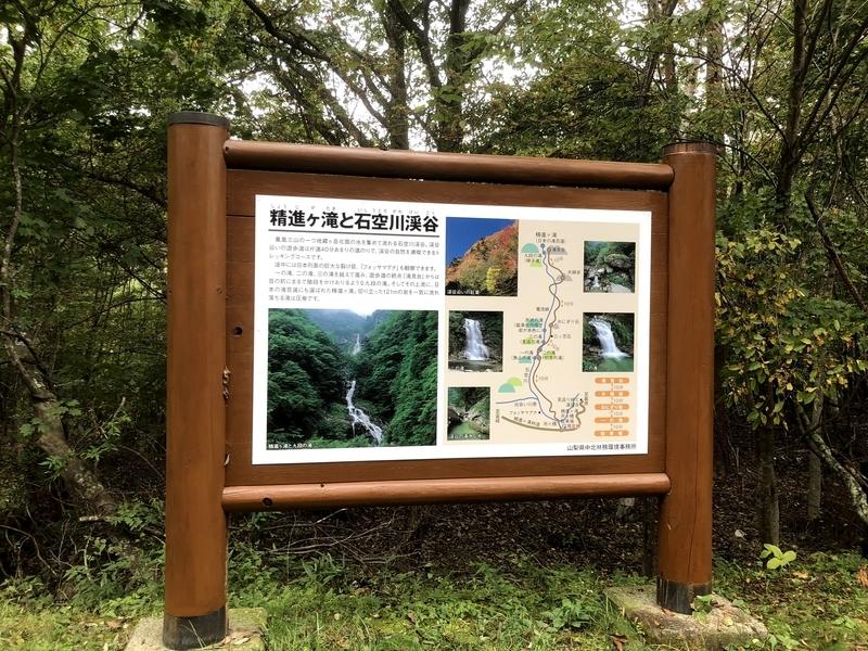 武川 精進ヶ滝 看板