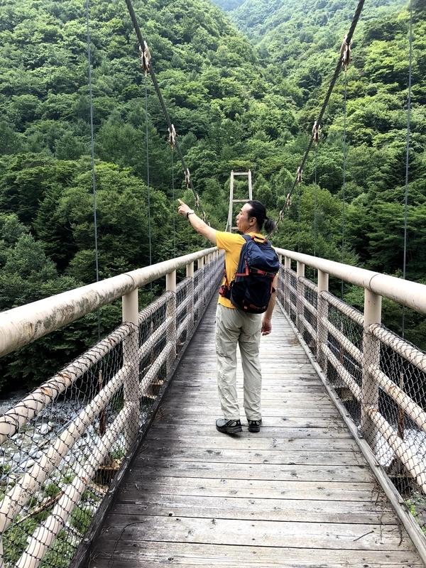 精進ヶ滝 つり橋