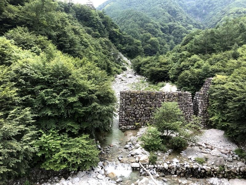 つり橋から大武川
