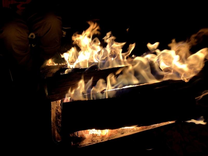 黒坂オートキャンプ場 焚火