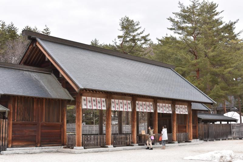 拝殿 身曽岐神社 shrine japan