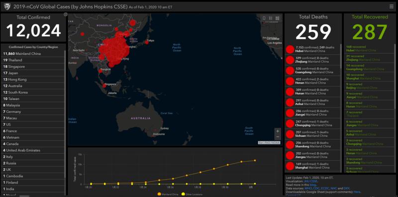 コロナウィルス 感染者 マップ