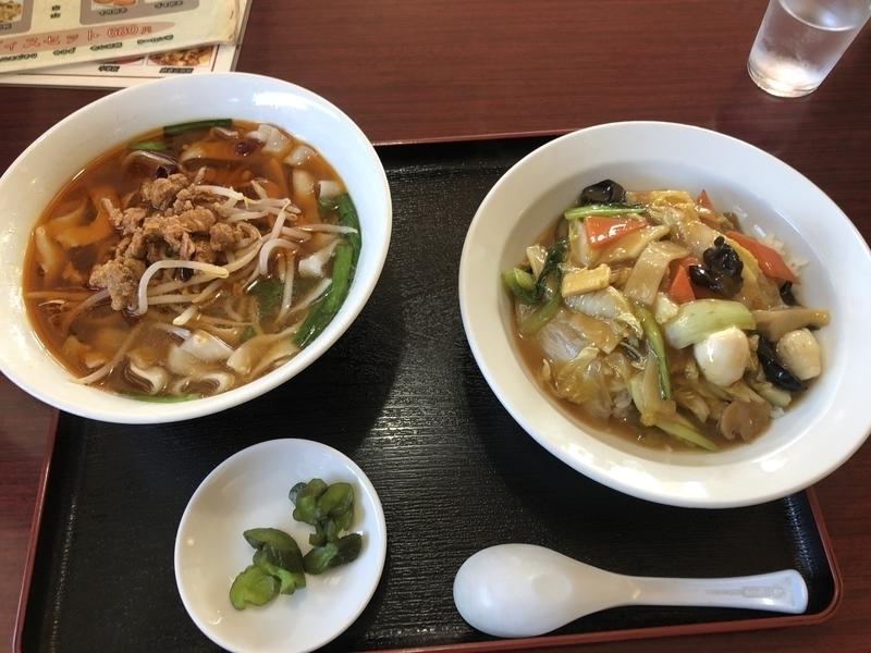 吉祥 刀削麺セット 中華飯