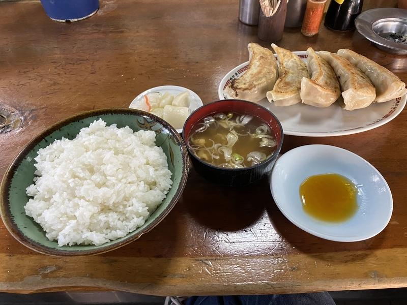ぼんち食堂の餃子ライスセット