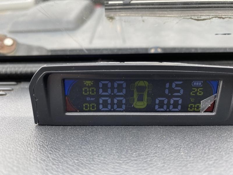 タイヤの空気圧監視