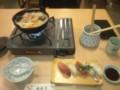 那珂港であんこう鍋。大抵の店は2人前以上限定だが、この店は寿司と