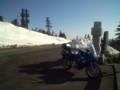 志賀草津道路の雪の壁