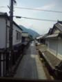 旧笠井邸2階から見た町並み保存地区