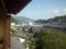 白雪楼2階からの景色。かすかに安芸灘大橋が見える