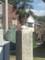 ももねこ様 on 地蔵堂の石柱