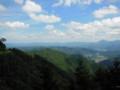 御岳山林道から秩父方面を望む