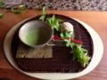 抹茶とおはぎ@茶房ゆかり。上品である #tamayura