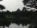 後楽園から岡山城を望む