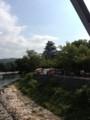 月見橋から岡山城を望む