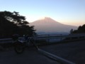 湯之奥猪之頭林道から見た富士山