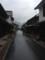 朝、まだ静かな町並み保存地区
