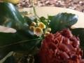 ケーキに添えられていた小さな花