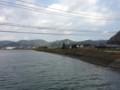 加茂川河口から竹原市街方面。煙突はよく目立つ