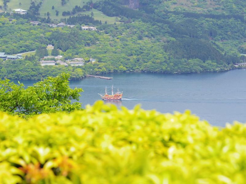 芦ノ湖の遊覧船(1)