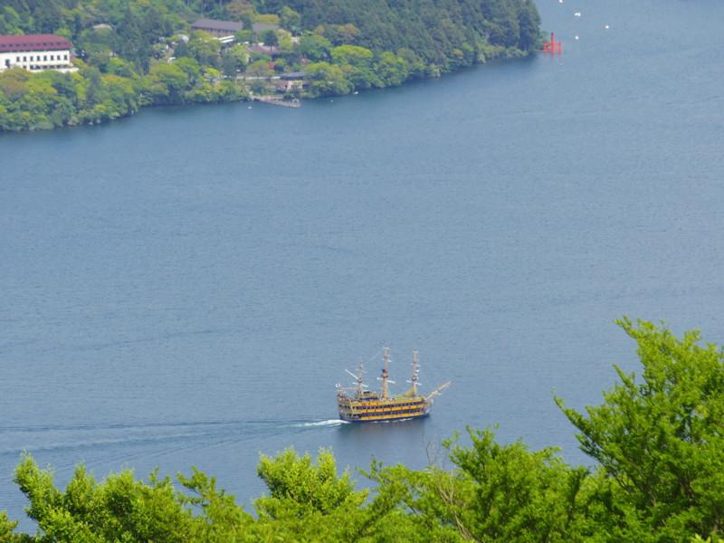 芦ノ湖の遊覧船(2)