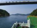 大崎下島→大崎上島間のフェリー上から