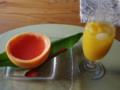 グレープフルーツゼリーとマンゴージュース #tamayura