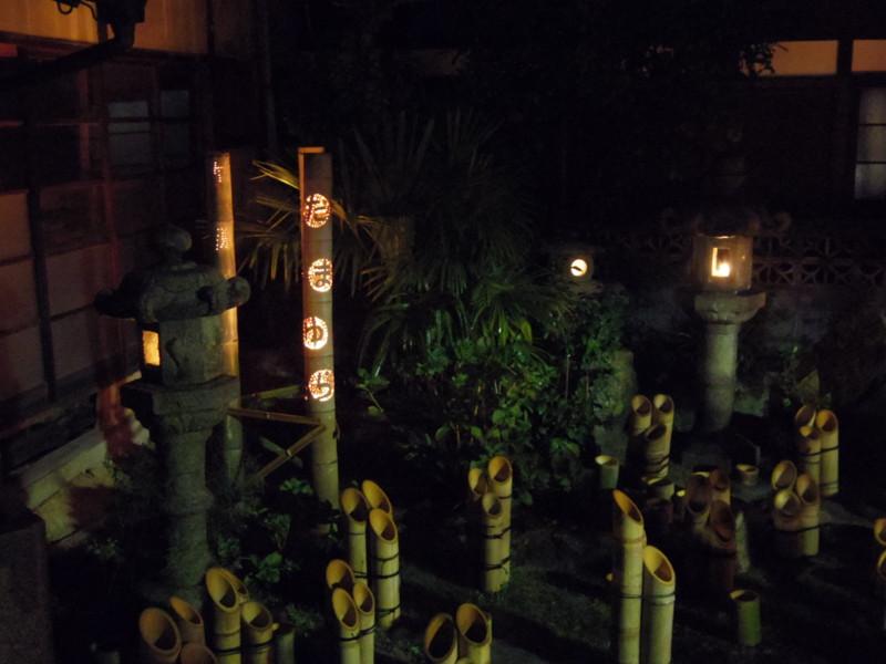 旧笠井邸の竹灯り(1)