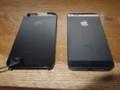 昨日の戦利品(左)。iPhone5(右)と完全に一…致? w